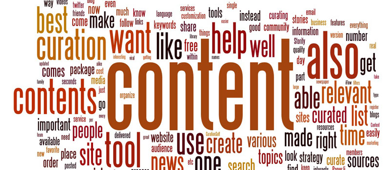 Content curation tag cloud
