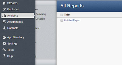 Hootsuite Report step1