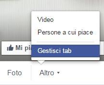 Gestisci tab Facebook