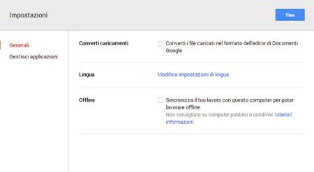 Nuova versione Google Drive_collega app
