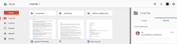 Nuova versione Google Drive_visualizzatore file
