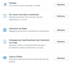 Twitter ads campagne
