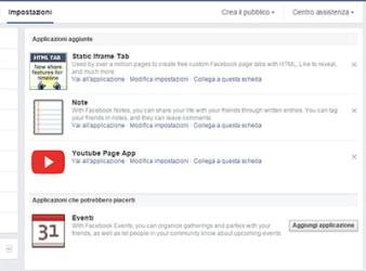 Tab Facebook procedura