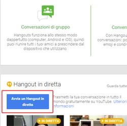 Avvia Google Hangout