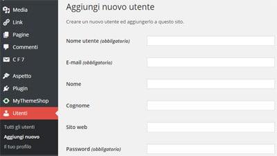 WordPress sicurezza consigli-utente admin