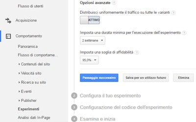 Google Analytics_esperimenti