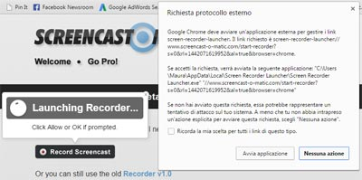 Come usare Screencast