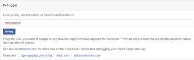 Post Link Facebook-Open Graph debug