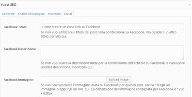 Post Link Facebook-Open Graph