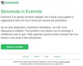 campagne email transazionali esempi_evernote