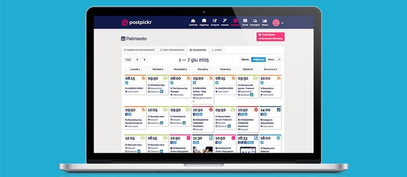PostPickr programmare sui social