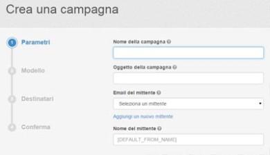 SendinBlu servizio di email marketing-crea campagna