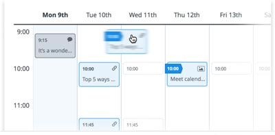 Differenze tra Buffer e Hootsuite_Buffer calendar