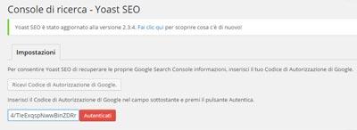 Ottimizzare sito con Plugin WordPress Yoast_verifica dominio