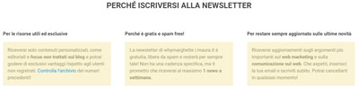 Convertire i visitatori in lead_newsletter-vantaggi