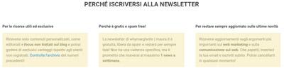 Convertire i visitatori in lead_newsletter-vantaggi