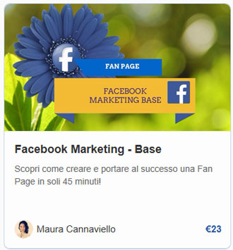 Corso Facebook Marketing Base