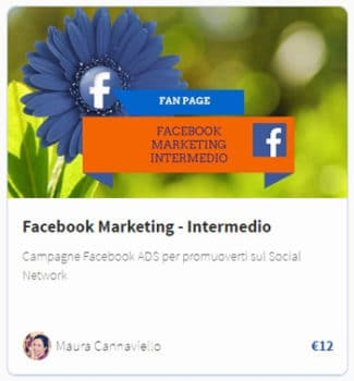 Facebook Marketing intermedio video corso per guadagnare cone le ADS