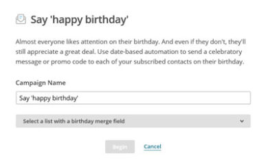 Happy Birthday MailChimp Automated