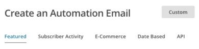 MailChimp automated menù