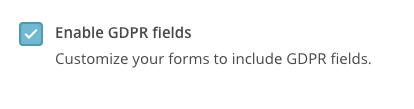 gdpr_enable MailChimp