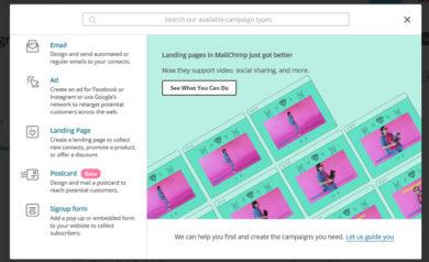 MailChimp guida 2018_campagne-tipo-di-contenuto