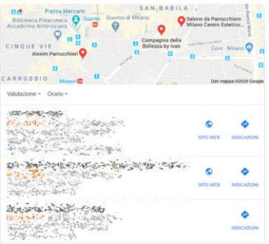 Risultati Google My Busines