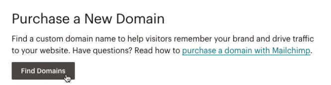 Dominio con Mailchimp - registrazione gratuita