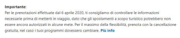Booking_nessima menzione al COVID-19